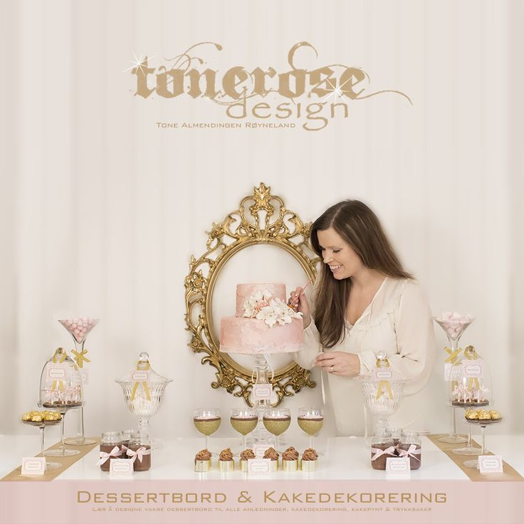 Konfirmasjon -kaker og sånt - tonerosedesign.com