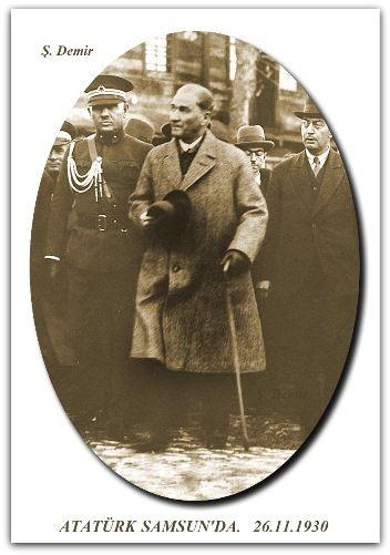 ATATÜRK SAMSUN'DA.   26.11.1930