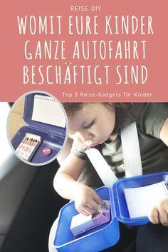 Top 5 Kinder Reise-Gadgets, damit die ganze Familie entspannt verreisen und im Urlaub ankommen kann. Reisespiele für Kinder, ganz leicht selbst gemacht - kinderleichte DIY.