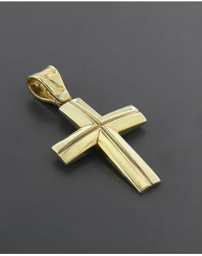 Σταυρός βαπτιστικός χρυσός K14
