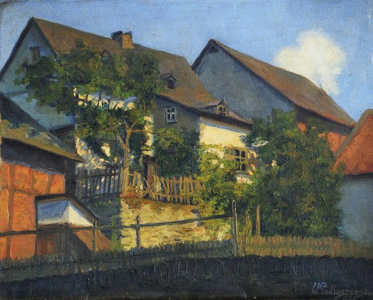 """""""Chaty"""" – obraz Wojciecha Podlaszewskiego z 1916 r. Barwne, nasłonecznione przedstawienie narastającego układu budynków, oddane z realizmem, ale i wyczuciem materii (stanowczo kładziona farba) – ujawnia talent dziewiętnastoletniego wówczas malarza. Tytuł nie zdradza miejsca, które zainspirowało do wykonania tej pełnej energii kompozycji. Może to gdzieś w pobliżu Gniezna, rodzinnego miasta artysty?"""