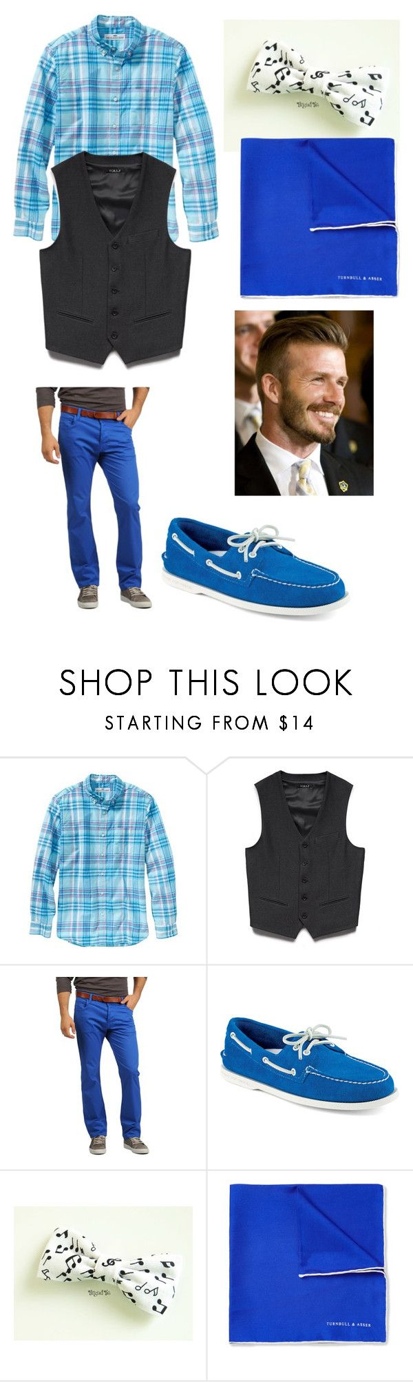 """blaine anderson style"" by ncstategal ❤ liked on Polyvore featuring Old Navy, 21 Men, Italia Independent, Sperry, Turnbull & Asser and David Beckham"