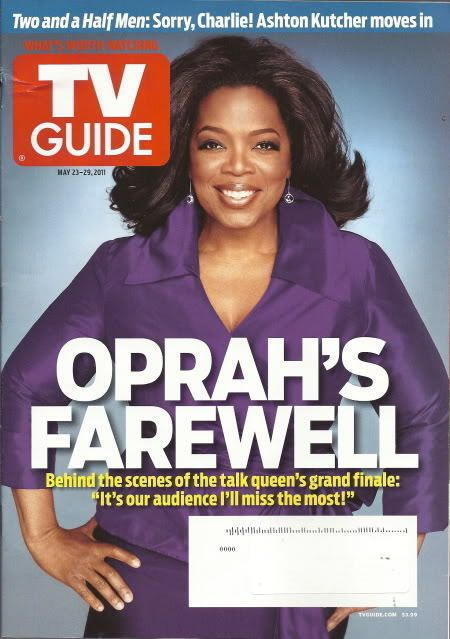 Oprah TV Guide May 2011 Ashton Kutcher The Killing Cougar Town Peter Facinelli