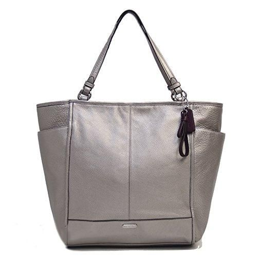 Coach Park North South Pewter Tote Bag. Get one of the hottest styles of the season! The Coach Park North South Pewter Tote Bag is a top 10 member favorite on Tradesy. Save on yours before they're sold out!