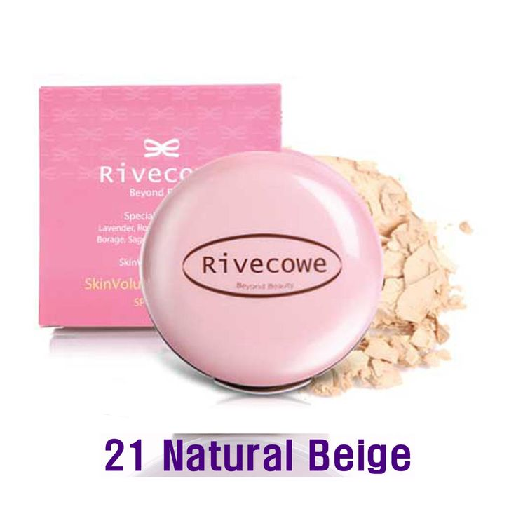 Rivecowe Skin Volume Powder Pact UV Protect SPF30PA++ Herb No.8 Natural Beig #21 #RIVECOWE
