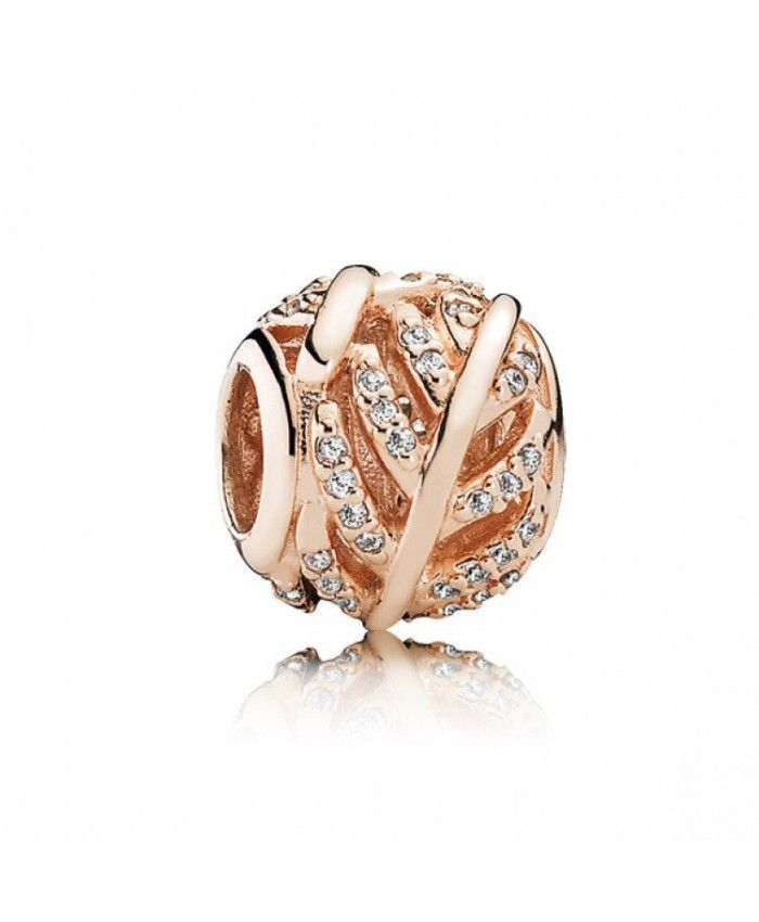Pandora Rose Gold Light As A Feather Charm 781186CZ On Sale Online