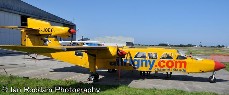 Britten-Norman Trislander, G-JOEY, well known in the islands but retired from service in 2015.