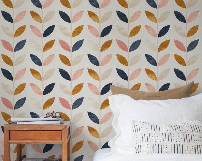 Scandinavian Style Pattern Vintage Wallpaper Self Etsy Scandinavian Wallpaper Scandinavian Style Wallpaper