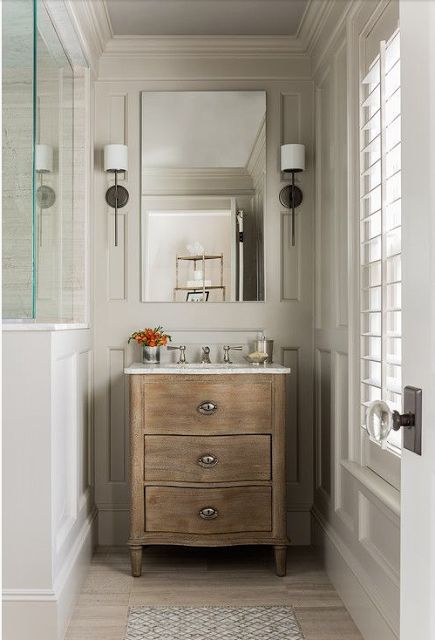 Small Bathroom Using A Dresser As Vanity Verandah House