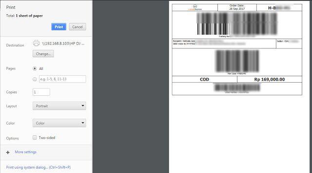Cara Memperkecil Invoice Tokopedia Pengukur Pencetakan Ukuran Kertas