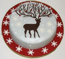 deer cake: Nifti Cakes, Gâteaux Mi Cakes, Christmas Cakes, Holidays Cakes, Seasons Cakes, Deer Cakes, Gâteauxmi Cakes, Cakes Christmas, Baby Cakes