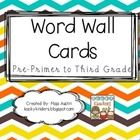 Dolch Sight Word Wall Cards- Colorful Chevron Theme  Pre-Primer to Third Grade  Print, laminate, cut apart and use on your classroom word wall. ...