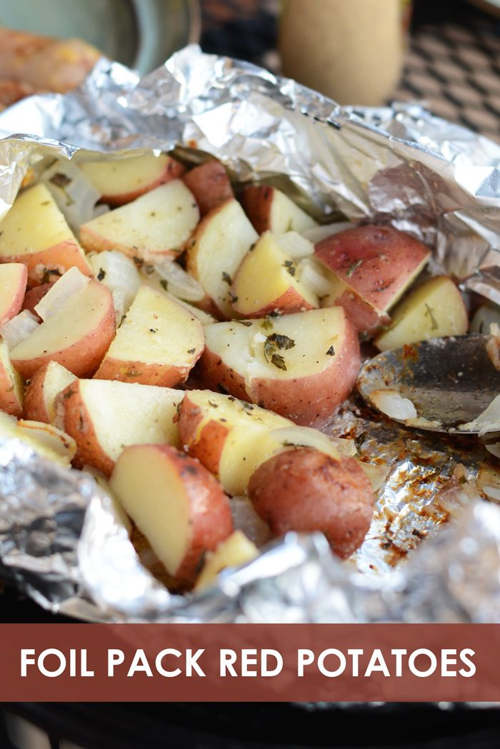 Foil Pack Grilled Red Potatoes makes for a delicious side dish and easy clean up