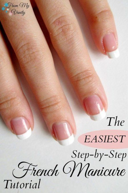 Easy French Manicure At Home! (Nail Tutorial)