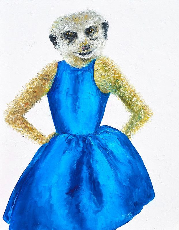 Madeleine, aware of her beauty, had yet to become bored by it.Madeleine, aware of her beauty, had yet to become bored by it.  #Meerkat #Meerkatpainting