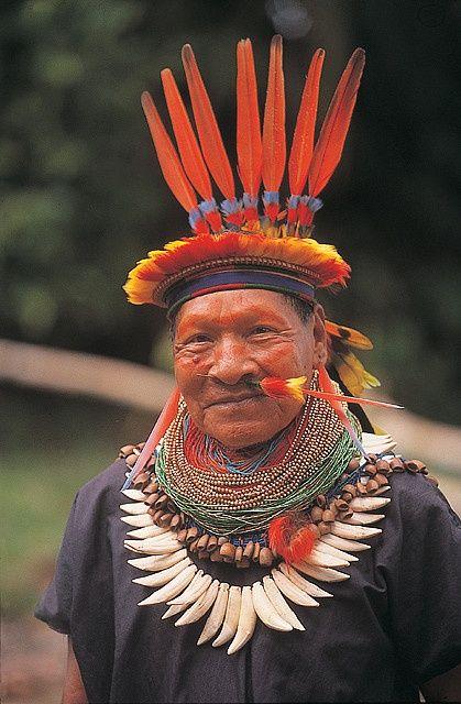 La gente de los tribos del Amazonas