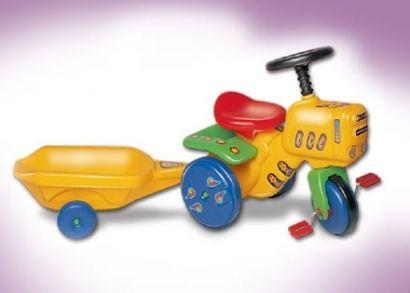 12.000 Ft helyett 8.990 Ft: Hozzon traktort a nyuszi! Pedálos kerti traktor utánfutóval, mely tökéletes meglepetés 2-4 éves korú gyermekek számára húsvétkor
