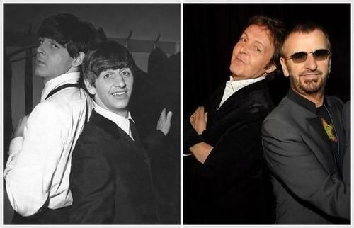 The Beatles - Paul McCartney and Ringo Starr - yesterday and today                                                                                                                                                      More