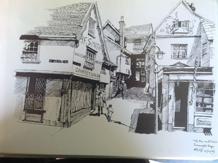 Scheregate Steps, Colchester, about 1920