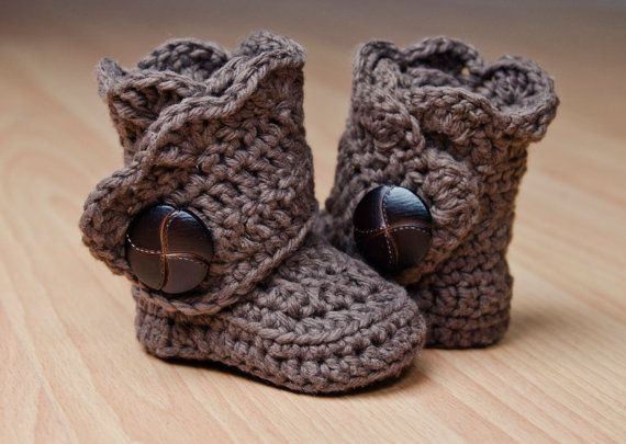 Crochet Baby Boots Girl Baby Booties Custom by shopathooked, $40.00
