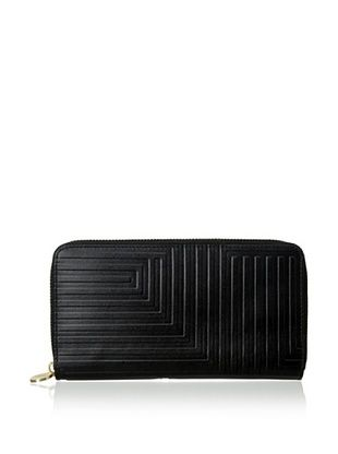 29% OFF Kate Spade Saturday Women's Leather Zip-Top Snap Wallet, Black