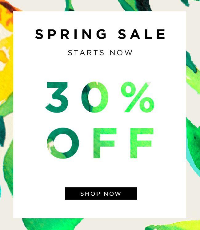 Loeffler Randall Spring Sale Email Design