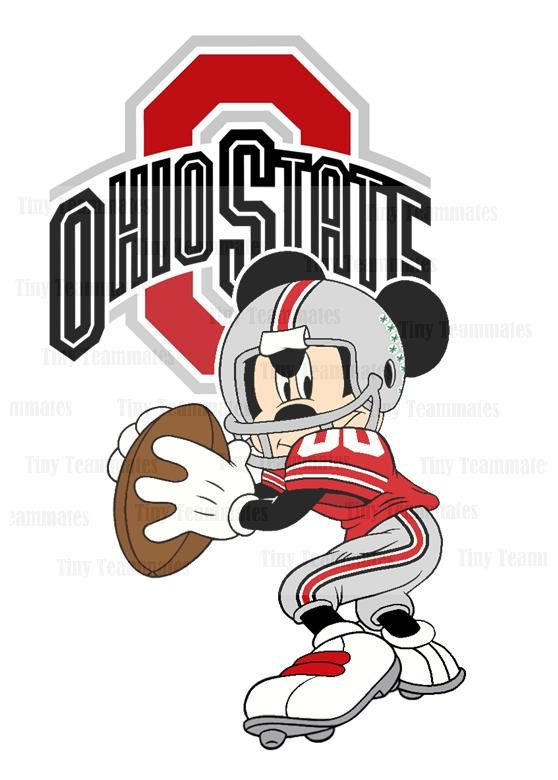 Mickey Inspired Ohio State Buckeyes Football - Digital File - Perfect for personalized print or T shirt iron on - All Teams Available