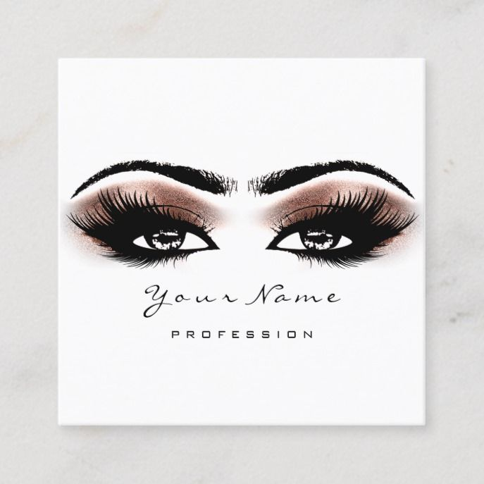 Makeup Artist Eyebrow Rose Lashes White Square Square
