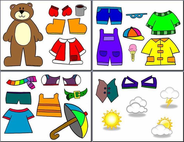 Printable Weather Bear Template
