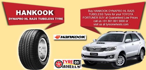 Buy Hankook Tyres Online for your Toyota Fortuner and get fitted with Mobile Tyre fitting Vans at your doorstep at Guaranteed Low Prices visit us at http://www.tyreonwheels.com/tyres/Hankook/DYNAPRO-HL/1006