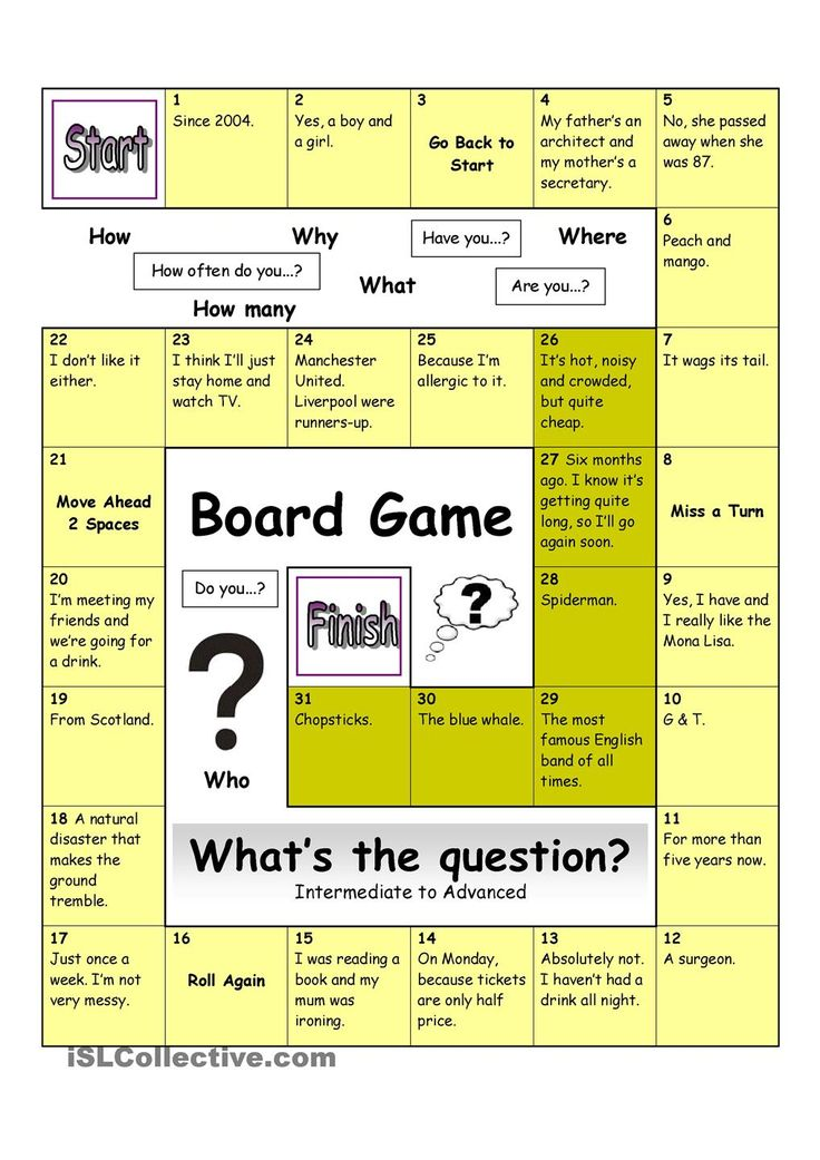 Board Game - What´s the Question (Hard)