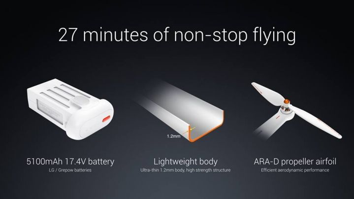 xiaomi mi drone flight time