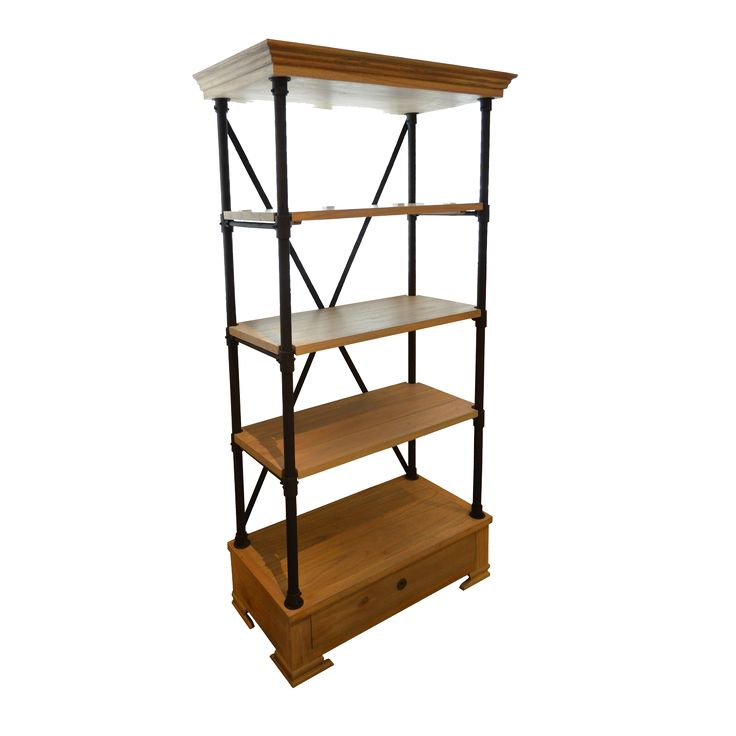 Wingston Single Cabinet. Industrial inspired Book Shelf.