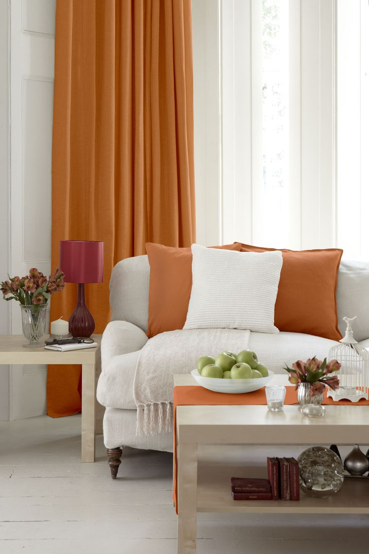 Pack a punch by using DYLON Goldfish Orange Machine dye to liven up curtains, cushions and table runners!  http://www.dylon.co.uk/products/dyes/fabric-dye-for-machine-use/goldfish-orange/#.UxSIj-N_tik