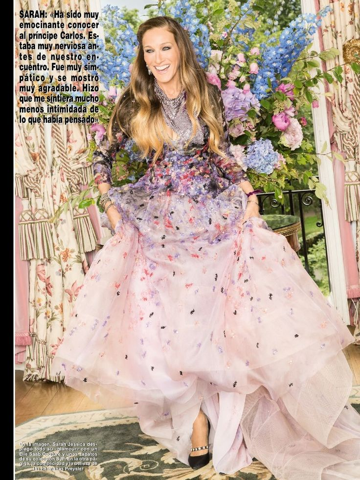 Sarah Jessica Parker in ELIE SAAB Haute Couture Spring Summer 2014 shot by Estudio Lamar and styled by Cristina Reyes and Erin Walsh for the Julyisuue of Hola! Magazine Spain.  @SJP