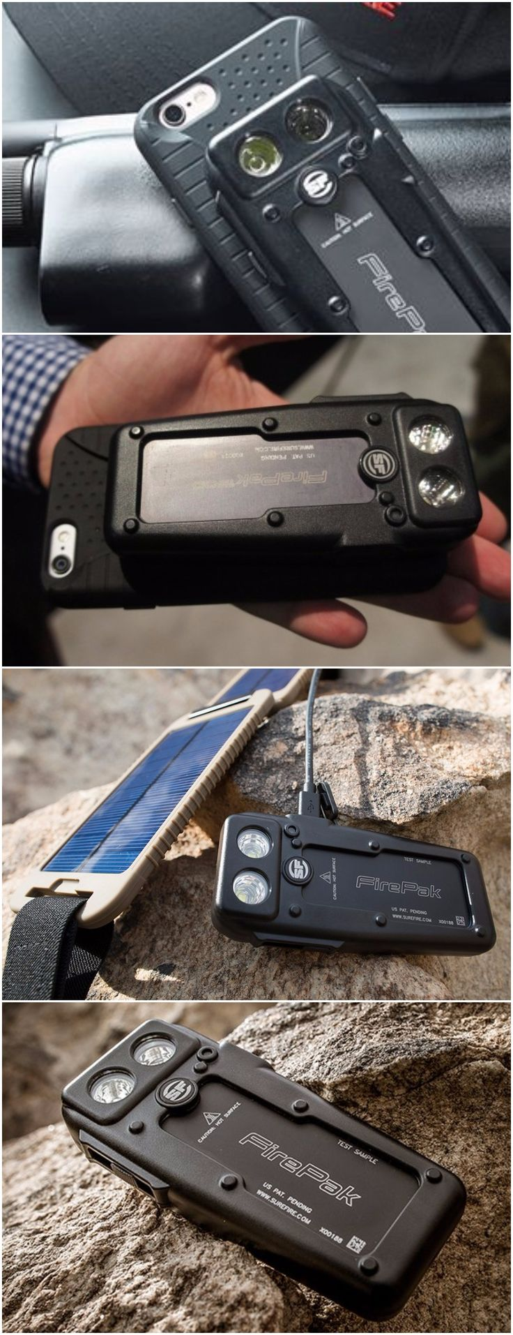 SureFire Fire Pak High Output Illuminator and Smartphone Charger, EDC Everyday Carry Gear Smartphone Flashlight and lighting