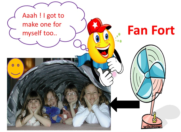 wikiHow to Make a Fan Fort -- via wikiHow.com