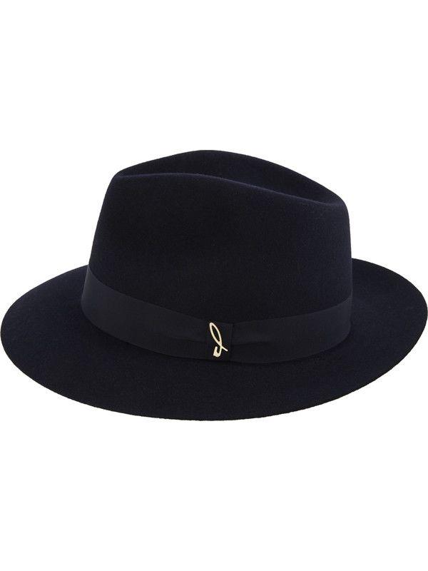 Borsalino fedora hat blue model Doria 1905