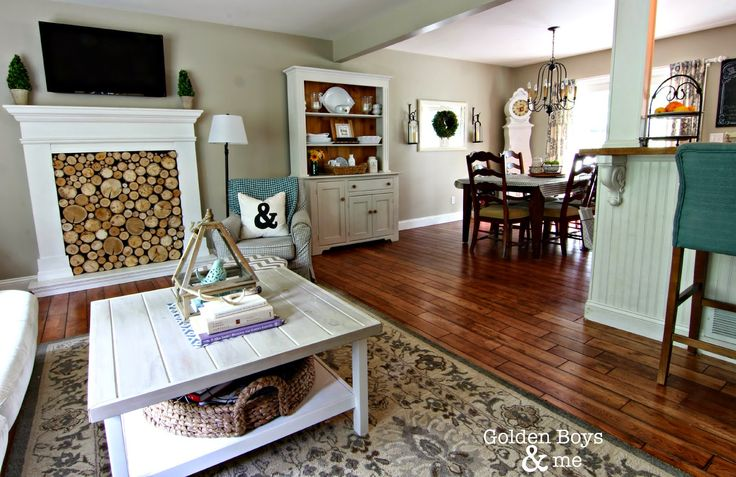 11 best split foyer living room 2014 images on pinterest for Split living room dining room ideas