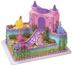 THIS IS PERFECT!!  Disney Princess Birthday Cake and Cupcake Decorations