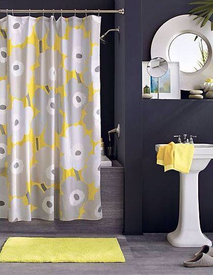 Best Bathroom Yellow And Grey Theme Images On Pinterest