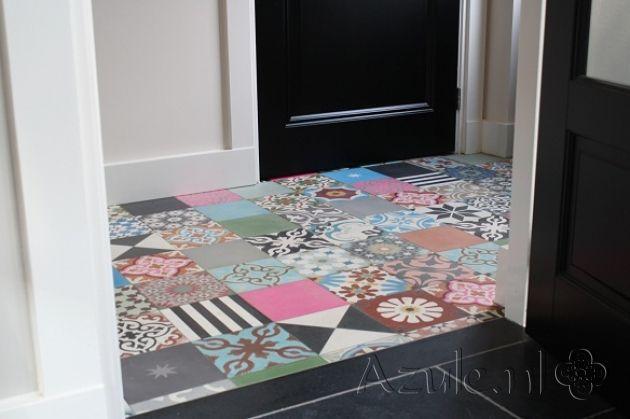 Cement tiles Patchwork! - Patchwork Bonte Mix - Project van Designtegels.nl