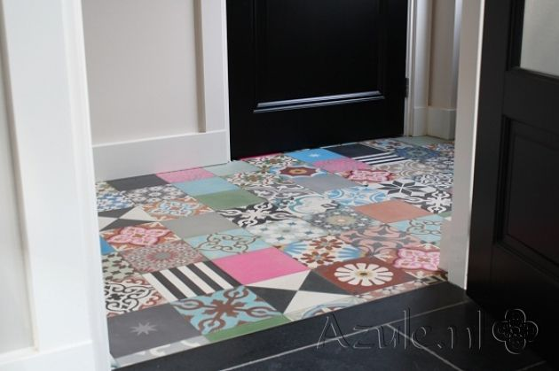 Cement tiles Patchwork! - Patchwork Bonte Mix - Project van Designtegels.nl