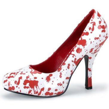 Red Blood Splatter Shoes...I think these would be cute to wear for Halloween