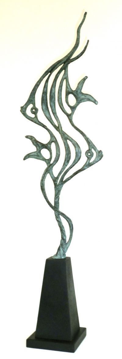 Bronze Fish in general #sculpture by #sculptor Gill Brown titled: 'ANGELS' #art
