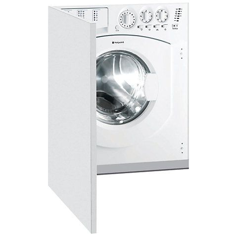 Buy Hotpoint BHWM129 Integrated Washing Machine, 7kg Load, A+ Energy Rating, 1200rpm Spin, White Online at johnlewis.com