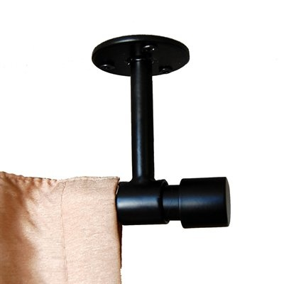 """BCL Drapery 58VC 5/8"""" Classic Collection Verona Ceiling Mount Curtain Rod Set - Knobs and Hardware"""