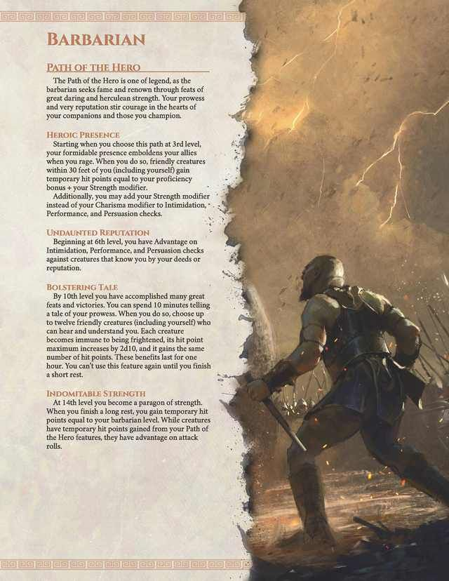 Path Of The Hero A Barbarian Archetype From Arkadia The Mythic