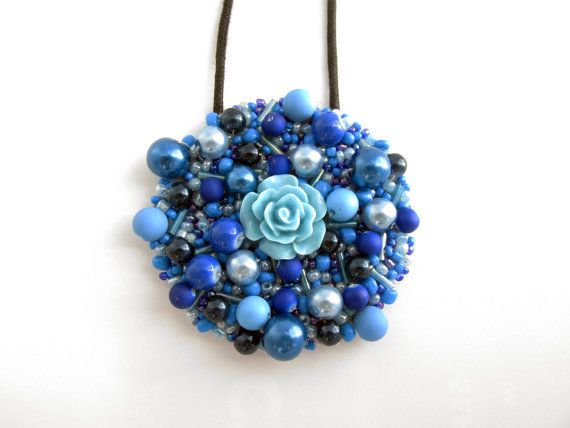 """Flower Power"" Handmade Statement Necklace"