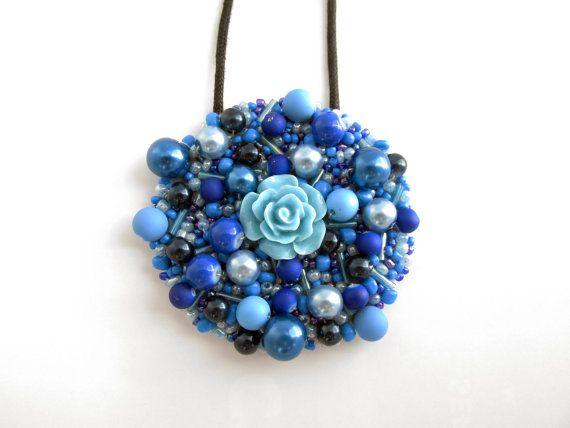 """""""Flower Power"""" Handmade Statement Necklace"""